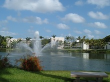 Lake Osceola at the University of Miami. Wikimedia Commons.