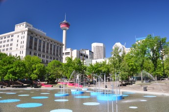 Calgary's Olympic Park, pictured above, is one of the existing legacies from the 1988 Olympics that still remain as a widely used part of downtown Calgary. Photo: abdallahh from Montréal, Canada [CC BY 2.0 (http://creativecommons.org/licenses/by/2.0)], via Wikimedia Commons.