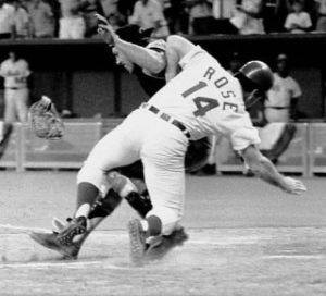 Rose crashes into Fosse. July 14, 1970. From Deadspin.com