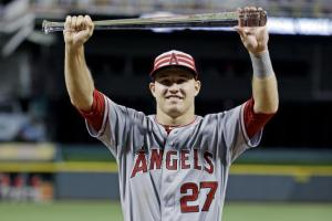 2015 All-Star Game MVP, Mike Trout. From bleacherreport.com