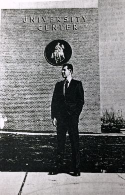 Keathley University Center with Nathan Bedford Forrest seal. 1970s.
