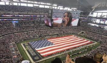 At&T Stadium, home of the Dallas Cowboys. Also known as