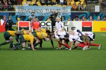 Australia vs. United States at 2011 Rugby World Cup. Courtesy of Wikimedia Commons.