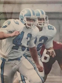 John Alex in action for the Columbia Lions. Courtesy of John Alex.
