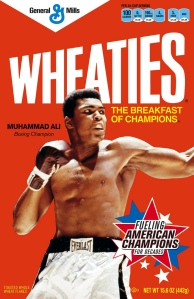 Muhammad Ali on the Wheaties Cover. Courtesy of GeneralMills (Flickr).