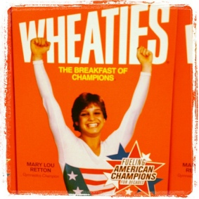 Mary Lou Retton on the Wheaties Box. Courtesy of Laura Gilchrist (Flickr).