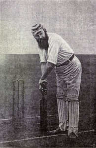 W.G. Grace taking guard. Courtesy of Wikimedia Commons