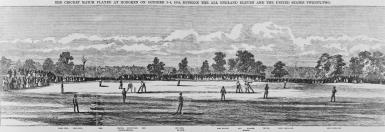 Cricket in Hoboken, New Jersey, in 1859. Courtesy of Wikimedia Commons.