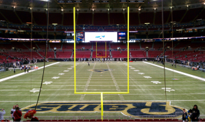 An interior view of the Edward Jones Dome. Photo Credit: Wikimedia Commons