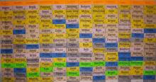 A Fantasy Football Draft Board. Image from Wikimedia Commons.