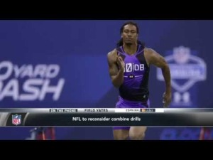 NFL Combine Drill. Image from YouTube.