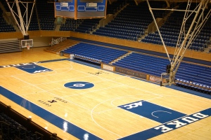 Duke's home court at Cameron Indoor Stadium in Durham, NC. Image From Flickr.