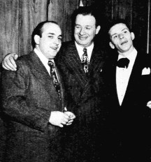 Hank Sanicola, Toots Shor and Frank Sinatra 1947