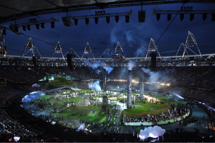 London's 2012 Opening Ceremony featured a tribute to Britain's role in the Industrial revolution. Image courtesy Wikimedia commons.