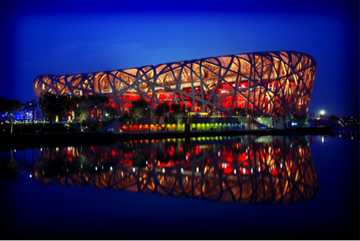 "The National Stadium AKA the ""Bird's Nest"" in Beijing, China. Home of the 2008 summer Olympics. Image courtesy of Edwin Lee, via Flickr Creative Commons."