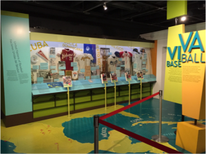 ¡Viva Baseball! debunks two major myths for museum visitors: (1) It credits the origins of Latin America's love affair with baseball to Cuba, not the U.S; and (2) It reveals the ways Latin/o peloteros maneuvered around Jim Crow America. Source: ¡Viva Baseball! Exhibit at NBHOF (author's own photo)