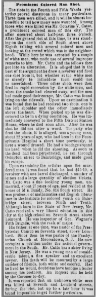 The Philadelphia Inquirer, October 11, 1871.