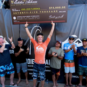 John John Florence wins the Eddie Aikau Big Wave Invitational. Photo courtesy of John John Florence.